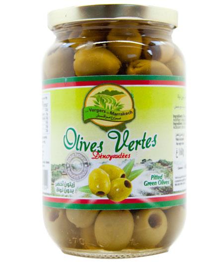Olives vertes dénoyautées les Vergers de Marrakech