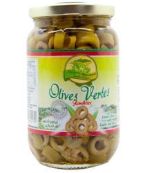 Olives vertes rondelles les Vergers de Marrakech