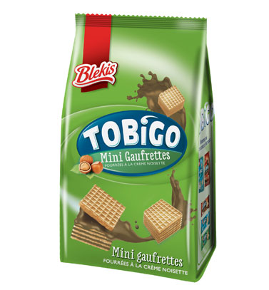 Biscuit Tobigo mini gaufrettes noisette