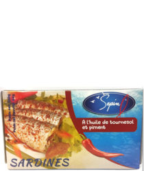 Conserve sardines à l'huile de tournesol et piment